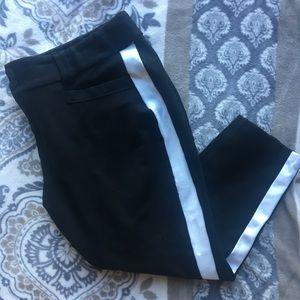Torrid pin stripe crop work pants (LU)